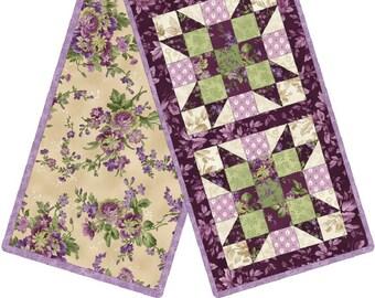 Debbie Beave Aubergine Purple Lavender Violet Plum Floral Quilt Fabric MAS9152-V