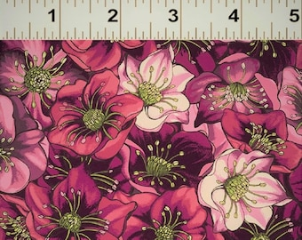 LENTEN ROSE designed by Cedar West for Clothworks - bty - Y2279-46