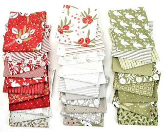 """CHRISTMAS MORNING Charm Pack from Moda - (42) 5"""" fabric squares - #5140PP"""