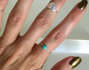 tiny turquoise ring