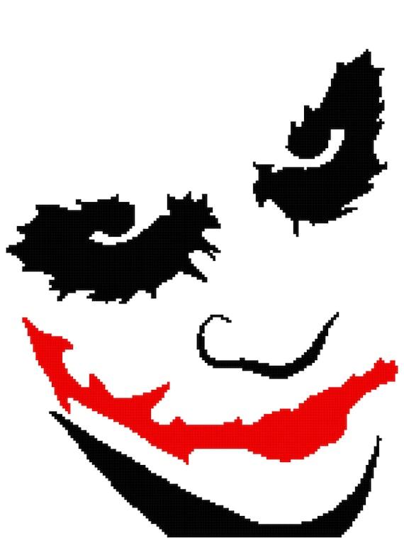 The Joker Batman Graph Chart Pattern Afghan DOWNLOAD | Etsy