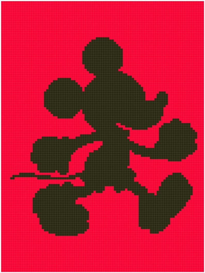 Mickey C2C Pattern - Crochet corner to corner