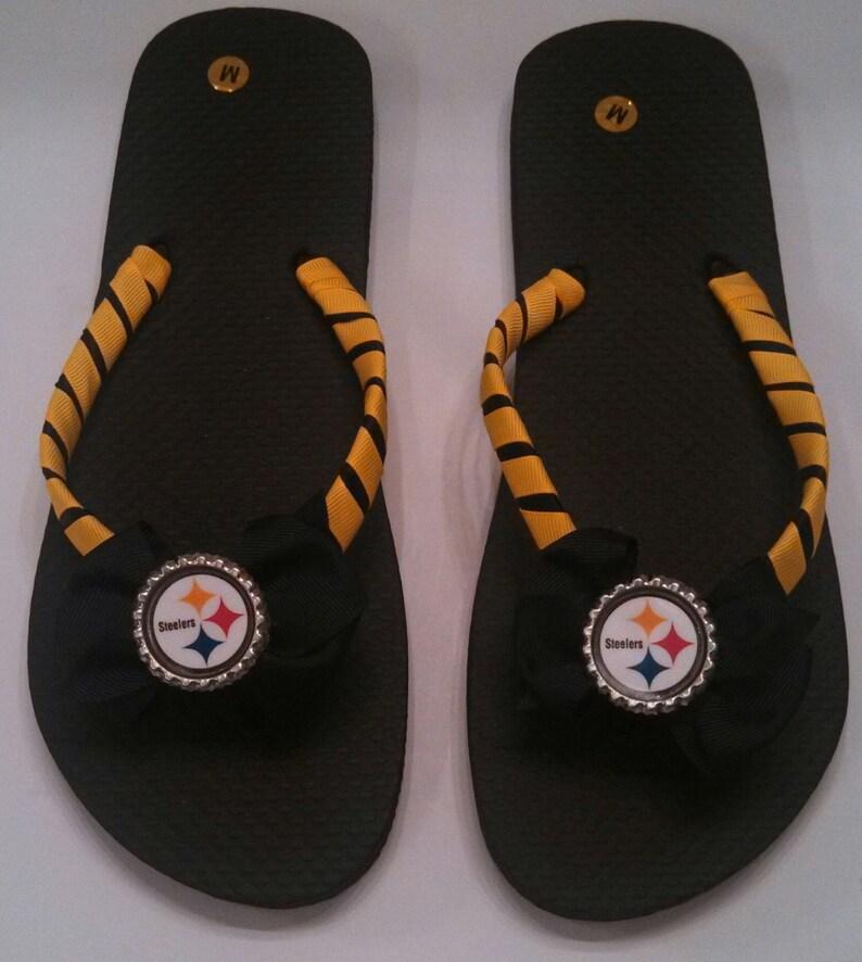 923a22379aeba Pittsburgh Steelers Flip Flops