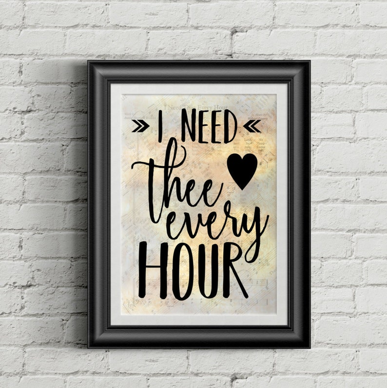 I Need Thee Every Hour image 0