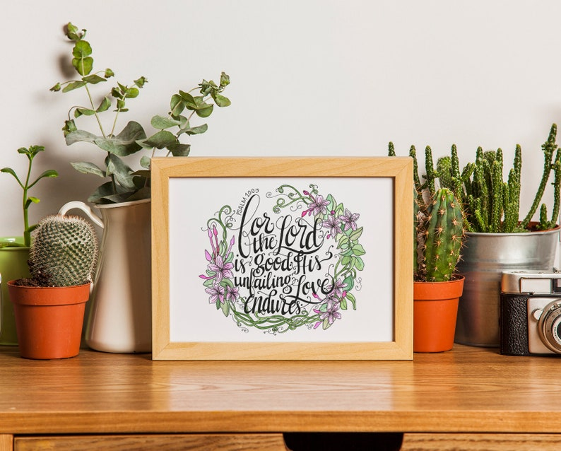 The Lord Is Good Digital Watercolor Print image 0