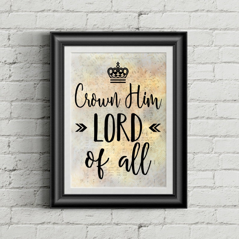 Crown Him Lord Of All Digital Hymn Print image 0