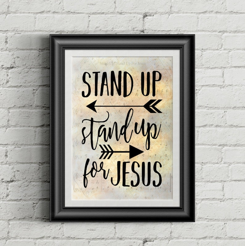 Stand Up Stand Up For Jesus Digital Hymn Print image 0