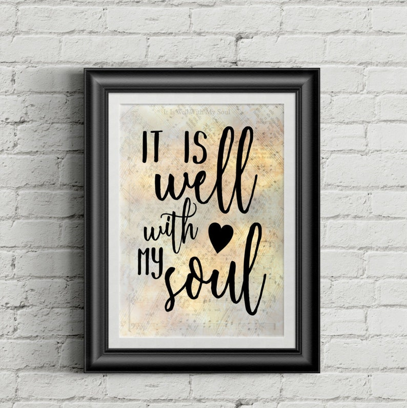 It Is Well With My Soul Digital Hymn Print image 0