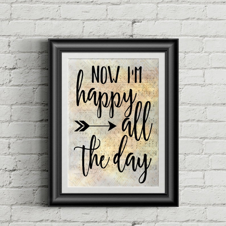 Now I'm Happy All The Day Digital Hymn Print image 0