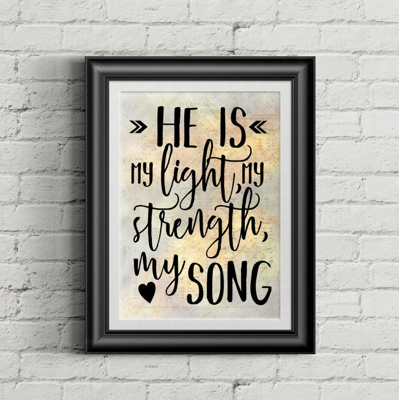 He Is My Light My Strength My Song image 0