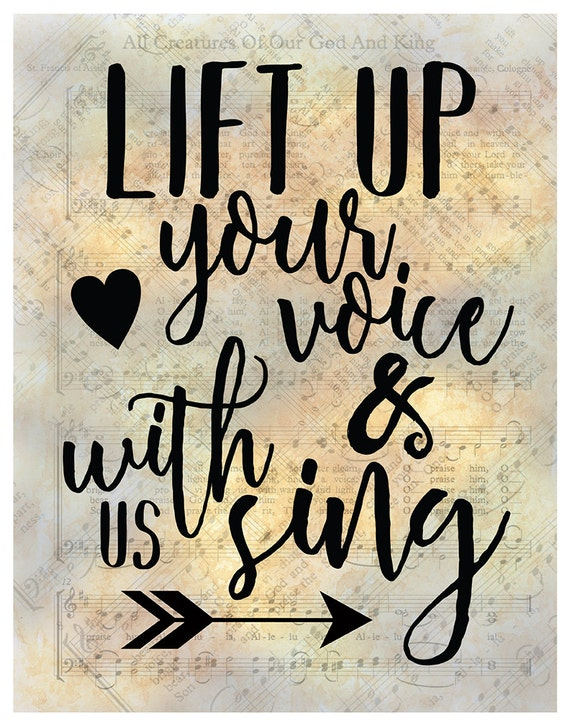Lift Up Your Voice And With Us Sing Digital Hymn Print