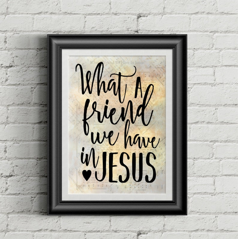 What A Friend We Have In Jesus image 0
