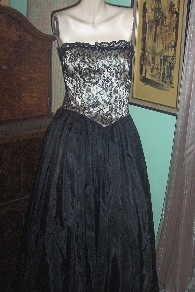 3b829546fb9 Gunne Sax Strapless Vintage dress boned Prom Party Formal 80s