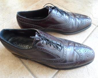 Florsheim men's wing tip condovan vtg tie lace shoes 12D 76402 burgundy oxford