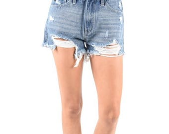 7fbe6856907 Distressed Shorts frayed shorts Made to Order womens summer shorts plus size  clothing All sizes all brands levis lee wrangler