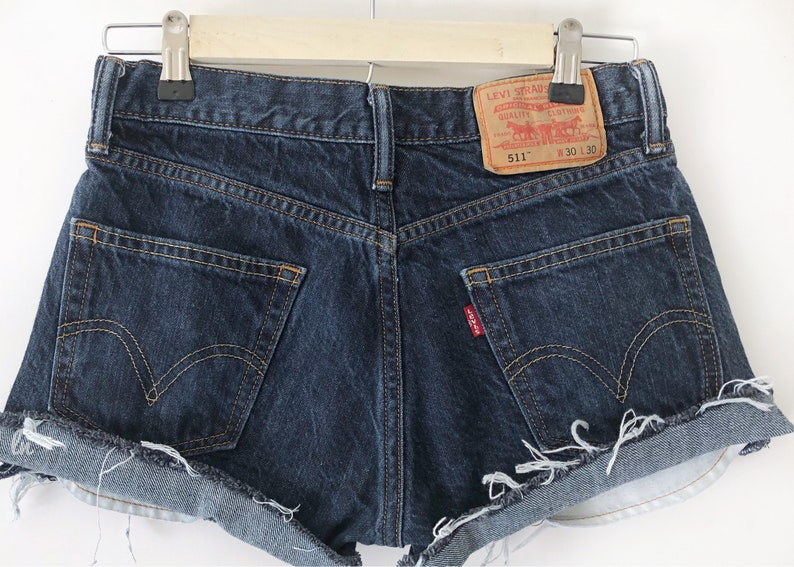 18170591a41 LEVIS ONLY Distressed boyfriend Shorts vintage shorts Made to