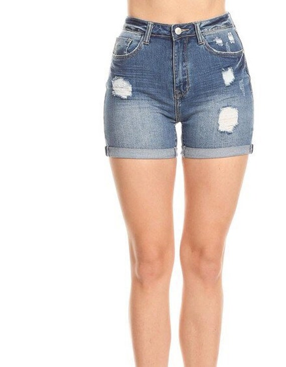 d9c14b7b2ff Distressed Shorts frayed shorts Made to Order womens summer