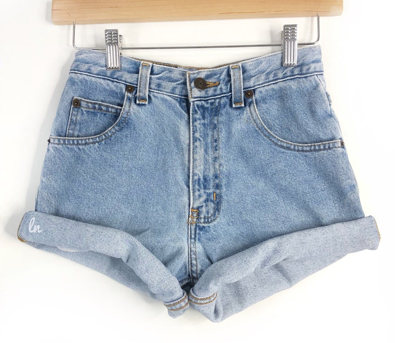 c21ce0f1 Vintage Denim High Waisted Shorts High Waisted Shorts high | Etsy