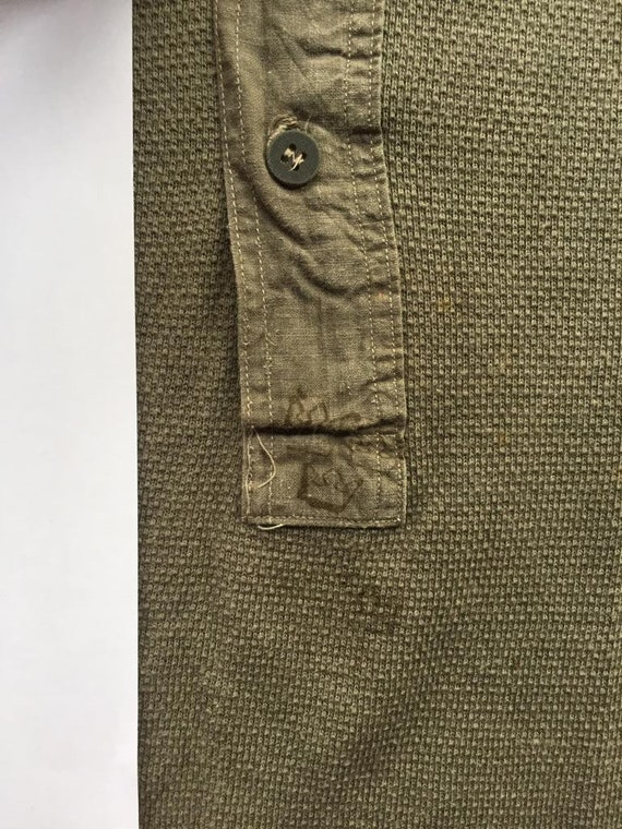 Vintage 1930s Slim Fit Cotton Smock Shirts - Beig… - image 4