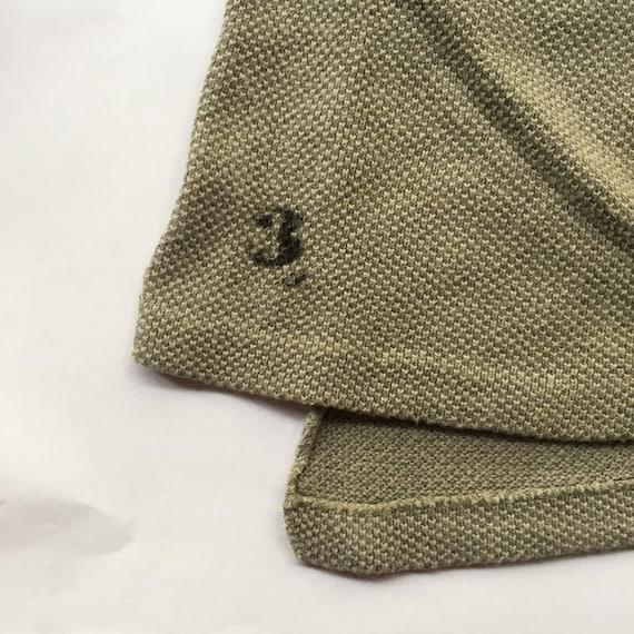 Vintage 1930s Slim Fit Cotton Smock Shirts - Beig… - image 9