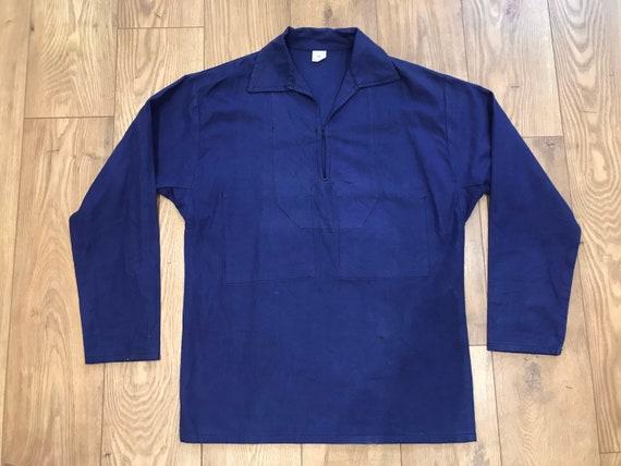 French Indigo Smock Shirt - Men's Vintage Cotton T