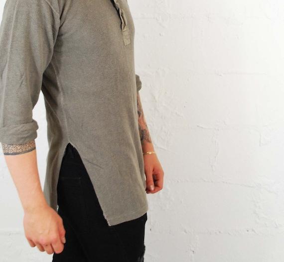 Vintage 1930s Slim Fit Cotton Smock Shirts - Beig… - image 2