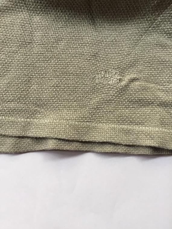 Vintage 1930s Slim Fit Cotton Smock Shirts - Beig… - image 10