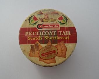 Vintage Petticoat shortbread tin