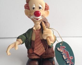 1997 Slapstix by Cast Art Happy Camper Clown Figurine