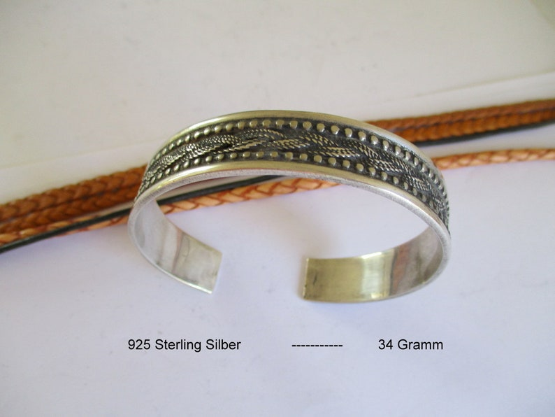 Sterling Silver 925 Bangle India Asia Ethnic Cuff Himalayas Pakistan Tibet Nepal Lhasa