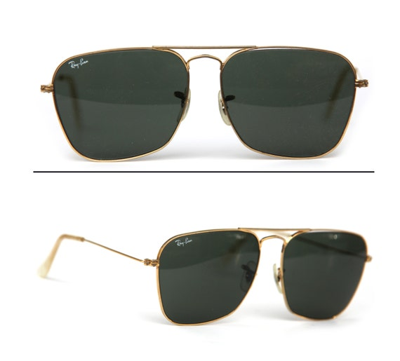 Vintage B&L Ray Ban USA Gold GF Aviator Sunglasses Frames