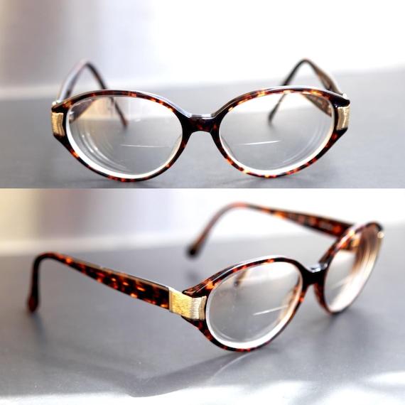 5803cbb1728 Items similar to CherryRevolver ROUND Tortoise Shell Glasses Thick Frame  OLEG CASSINI Oval Round Eye Glasses Prescription Lenses Unisex Men or Women  on Etsy