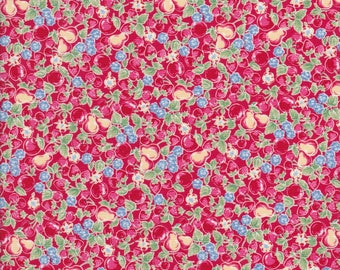 Orchard Kitchen - Apple Fabric - Strawberry Fabric - Cherry Fabric - Fruit Fabric - Yellow Fabric - Lecien Fabric