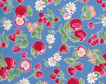 Orchard Kitchen - Apple Fabric - Strawberry Fabric - Cherry Fabric - Daisy Fabric - Blue Fabric - Lecien Fabric