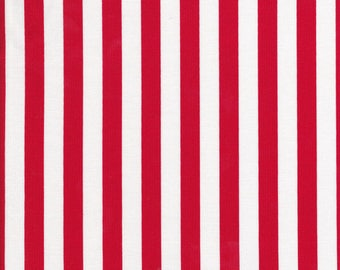 Red Stripe Fabric - Stripe Fabric - Red and White Stripe Fabric - Riley Blake