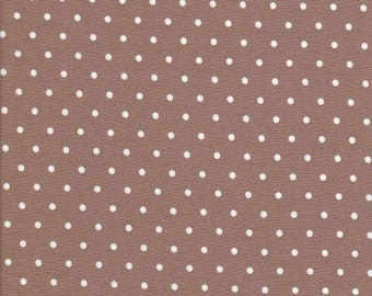 Cotton Tail Cottage - Brown Polka Dot Fabric - Polka Dot Fabric - Bunny Hill Designs