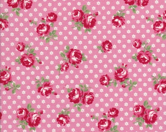 Atsuko Matsuyama Fabric - ATwo Fabric - 30s Collection - Pink Fabric - Rose Fabric - Small Floral Fabric - Yuwa