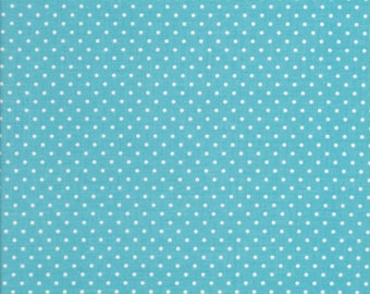 White Swiss dots on Aqua by Riley Blake C670-20