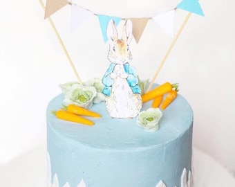 Peter rabbit cake topper | Etsy