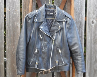Classic Ladies Vintage Harley Davidson Motorcycle Jacket Small/34W