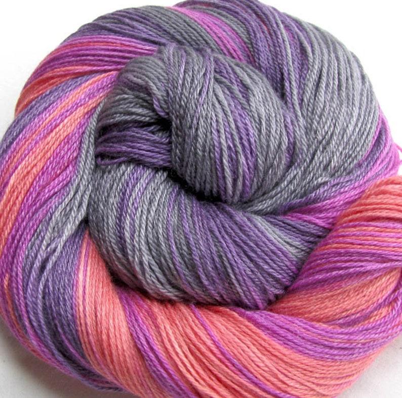 SW Merino/Bamboo/Nylon Sock Yarn Hand Painted image 0
