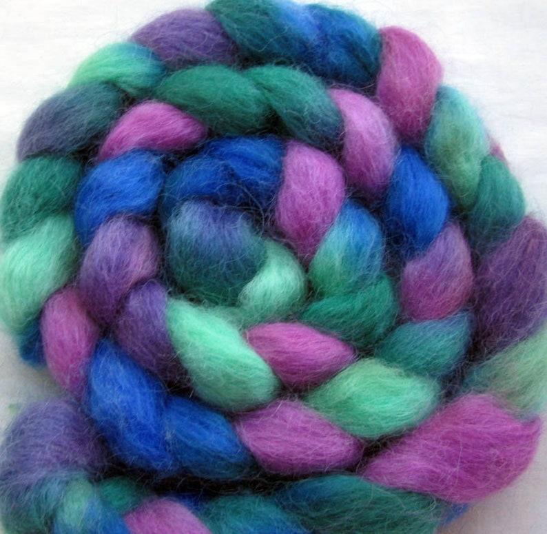 Masham Wool Combed Top 4 oz. Hand Painted image 0