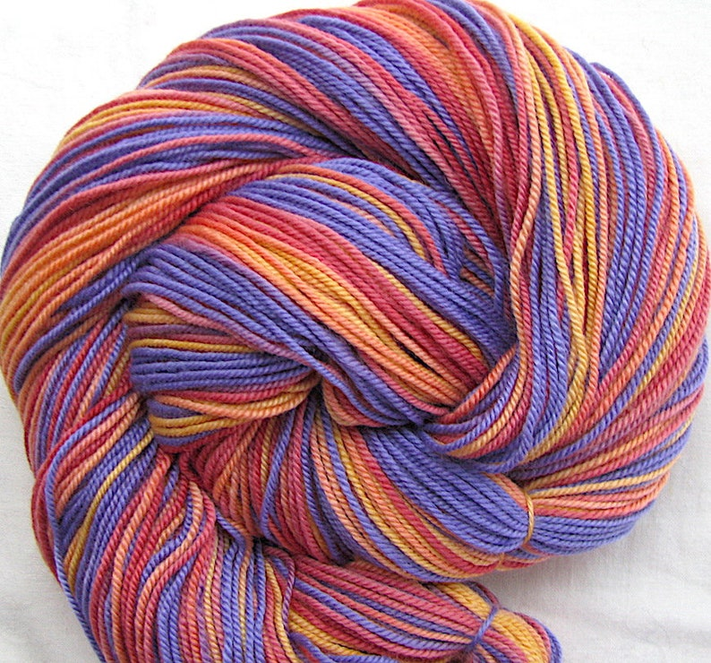 Merino/Silk Superfine Sport Weight Hand Painted Yarn image 0