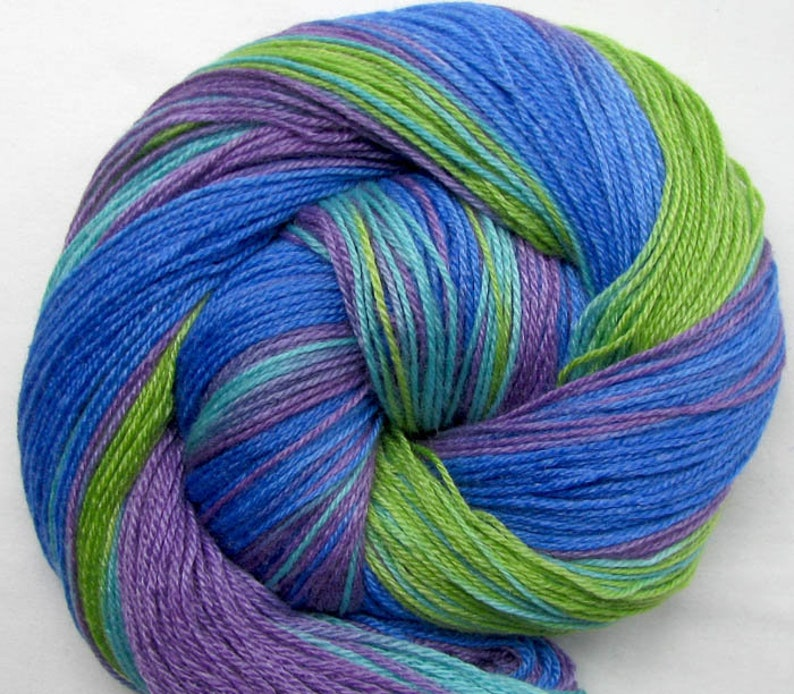 SW Merino/Bamboo/Nylon Sock Yarn Hand Painted image 0
