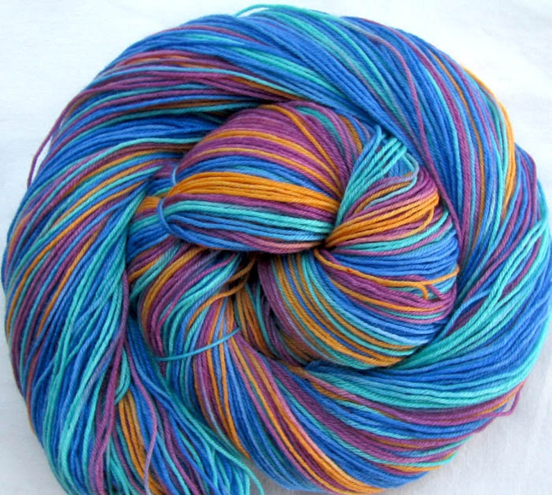 Superfine SW Merino 19.5 micron Hand Painted 4 ounces image 0