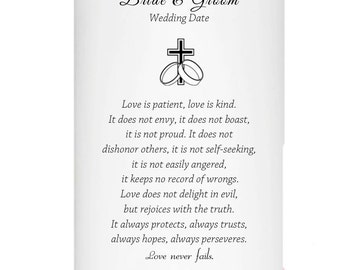 Love is Patient Love is Kind Unity Candle Personalized for your wedding