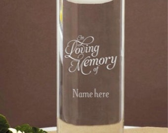 Memorial Etched Vase to honor a Loved One