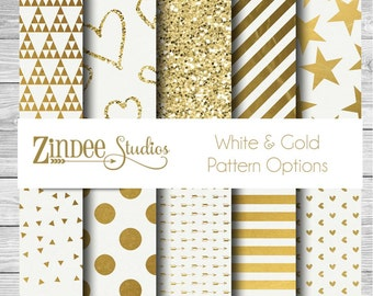 White and Gold printed vinyl, adhesive vinyl, heat transfer vinyl, pattern heat transfer, printed HTV or ADHESIVE lily