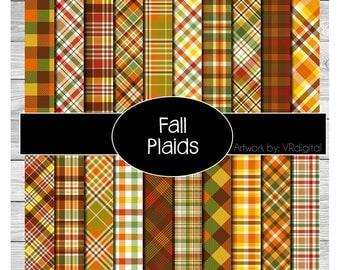 Fall Plaids printed vinyl, adhesive vinyl, heat transfer vinyl, pattern heat transfer, printed HTV or ADHESIVE lily