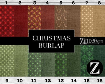 Christmas burlap printed vinyl, adhesive vinyl, heat transfer vinyl, pattern heat transfer, printed HTV or ADHESIVE lily
